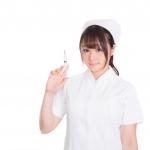お注射ですという看護師さん