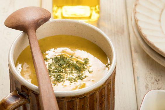 良い香りのかぼちゃスープ